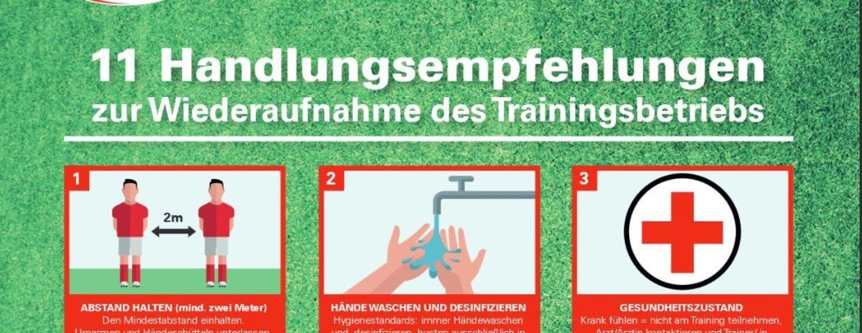 Training wieder erlaubt - unter Auflagen
